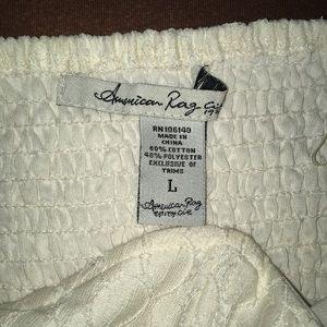 American Rag Dresses - Creme/beige lace mini dress
